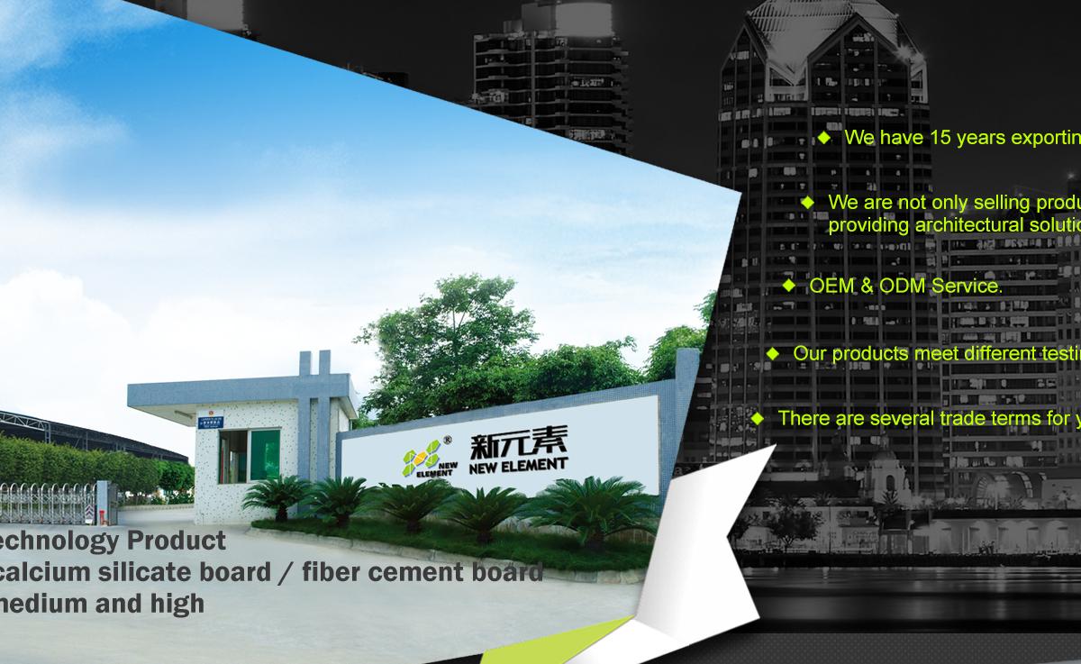 New Element Building Material Co., Ltd. - Fiber Cement Board, Lap Siding