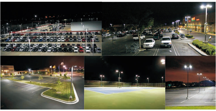 Hot sale superior quality 130lm/W IP65 led parking lot street light 5 years warranty
