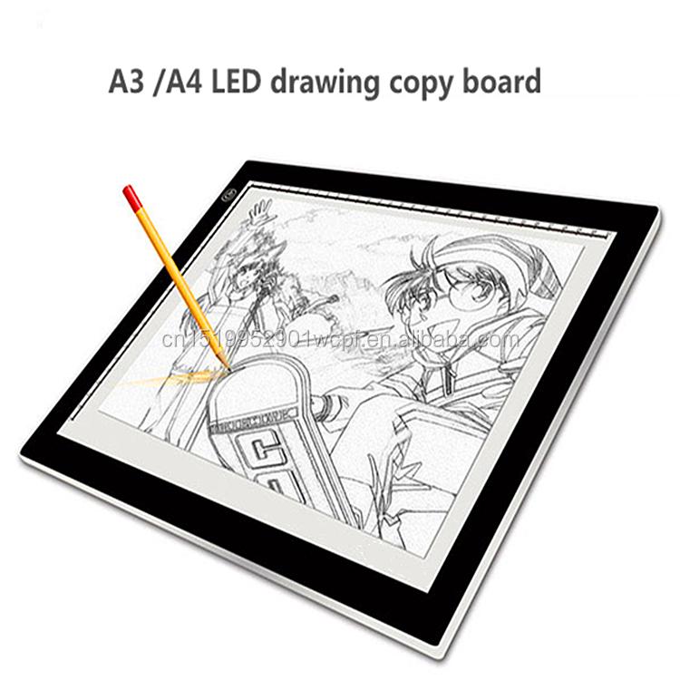 Tragbare Ultra-dünne A3 Led Tracing Licht Touch Bord Künstler Zeichnung Ausarbeitung Grafiken Tablet Animation Zeichnung Kopie Bord Videospiele