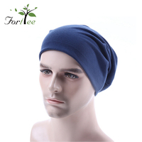 Wholesale sport fashion style 100% cotton winter man beanie hats custom