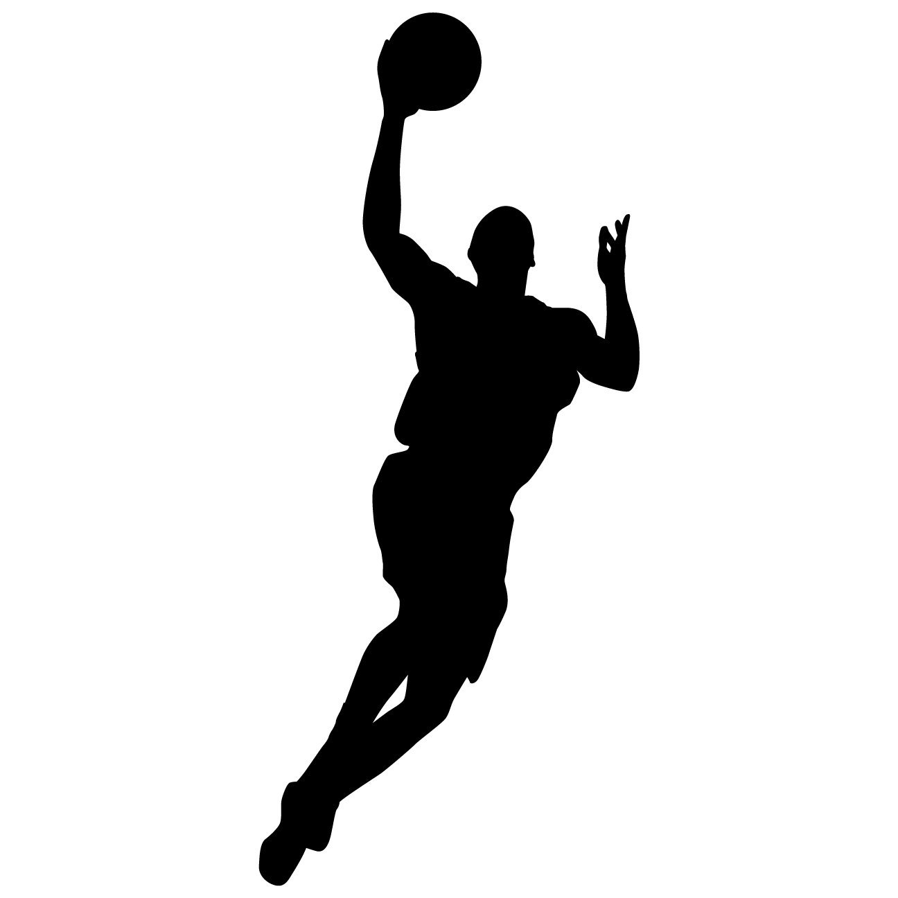 Buy Basketball Wall Decal Sticker 33 Decal Stickers And Mural For Kids Boys Girls Room And Bedroom Sport Vinyl Decor Wall Art For Home Decor And Decoration Basketball Player Silhouette