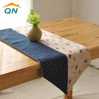 Custom Linen Jute Burlap Lace Table Cloth Runner For Wedding Party