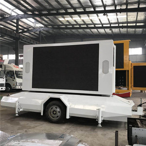 Big promotion P8 P6 P5 P4 high quality mobile LED outdoor display screen advertising trailer for sale