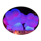 Wonderful led inflatable cloud shaped balloons/floating inflatable cloud for party decoration