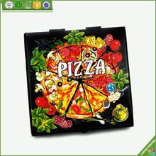 Custom black gegolfd papier <span class=keywords><strong>pizza</strong></span> box