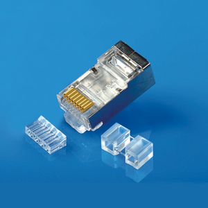 XL-518 RJ45 Shielded Connector CAT6 Nickel plated iron shell Three Pieces for High Quality Network Cable