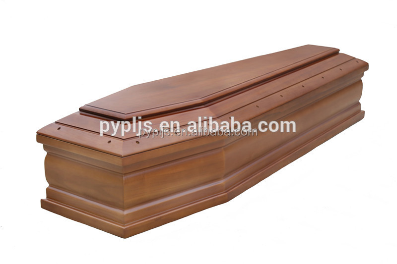 quality solid wood coffin Italian casket