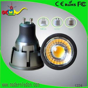 Narrow beam angle 38deg 5W AC85-265V cob 0.5w led gu10