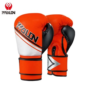 custom printed personalized sparring boxing PU leather gloves in gym use