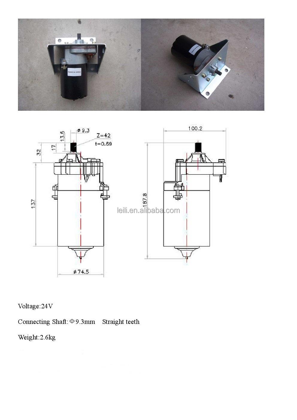 Zd2430/zd1430 12v Wiper Motor