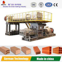 Double Stage Vacuum Extruder clay brick making machine for sale