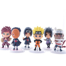 Mifen Craft 6pcs/lot 7cm PVC Naruto action figure set Q Edition Toy Collection Naruto japanese anime figures Model toy Set