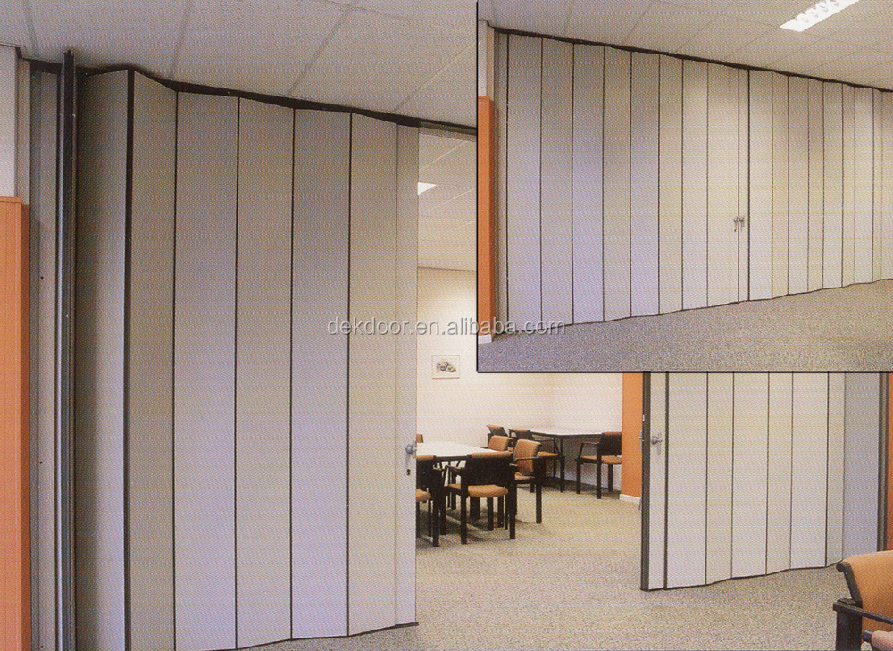 Insulation function folding divider door partition walls for Retractable walls commercial