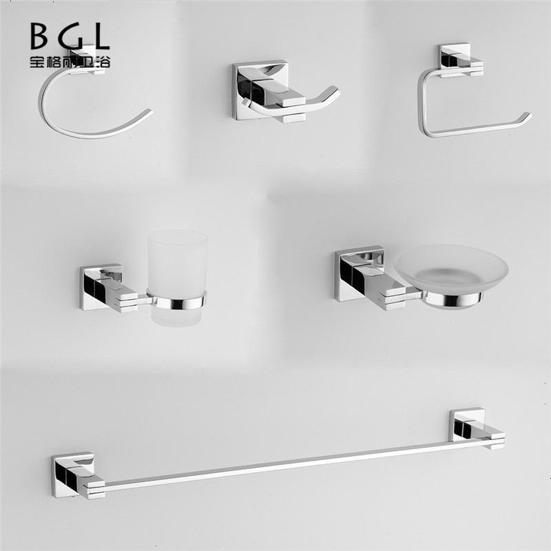 6 шт. настенный цинковый сплав Chrome для ванной набор № 20900 аксессуары для ванной комнаты Комплект