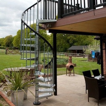 Used Outdoor Wrought Iron Spiral Staircase Price