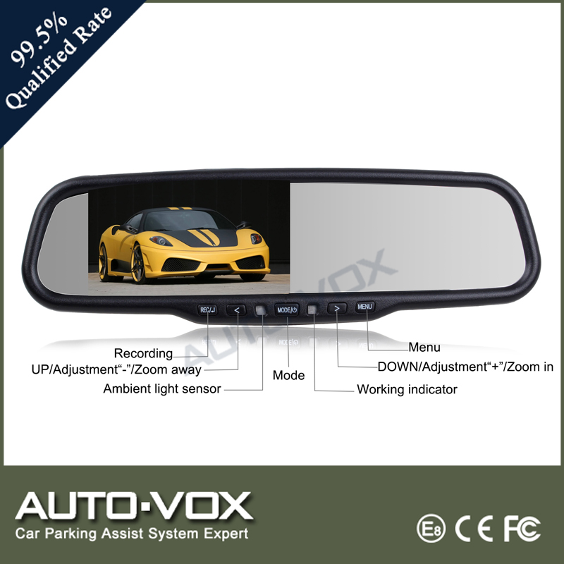 Auto-adjust brightness 1080P car monitor dvr rearview mirror