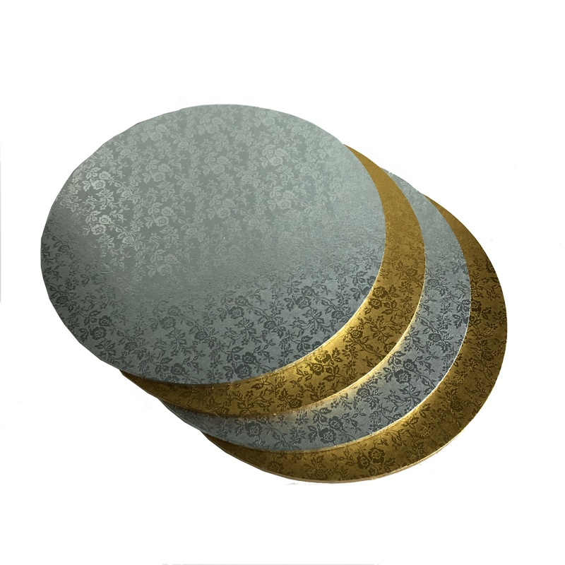 bakery packing floral foil gold silver masonite cake boards