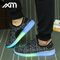 Fluorescent shoes 2017 new design best selling sports running shoes Luminous shoes men women unisex dance wholesale