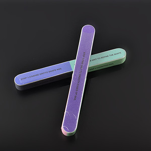 High Quality Nail Supplies nail care round sponge nail file buffer For Salon