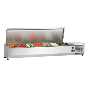 Reliable Quality Counter Top Single Door Saladette Salad Display Bar