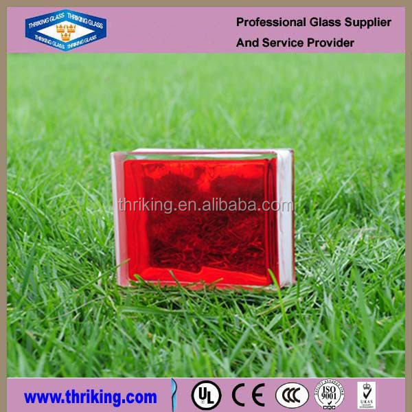 red cloudy Glass bricks