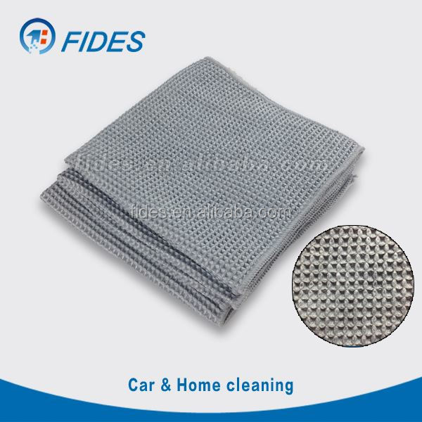 streak free car microfibre cloth waffle for finish drying