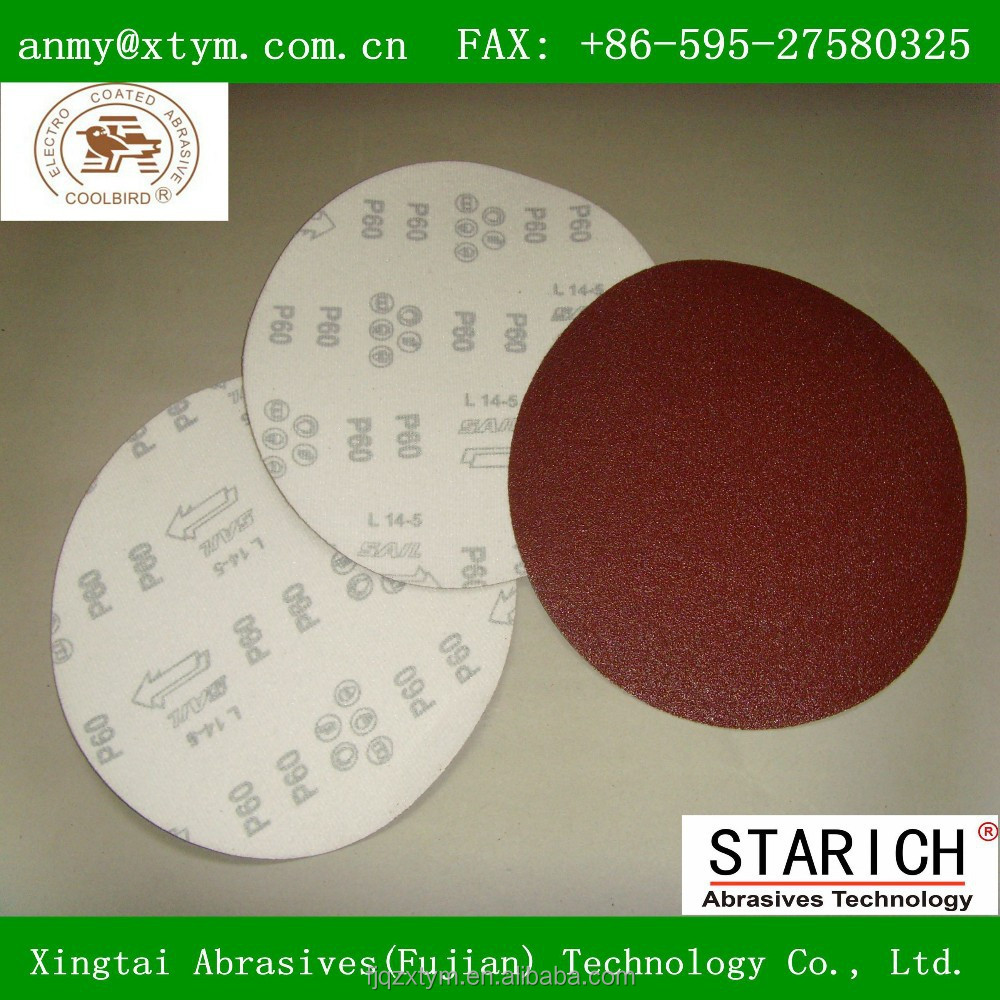 Brown color Hook and loop abrasive disc for car polishing