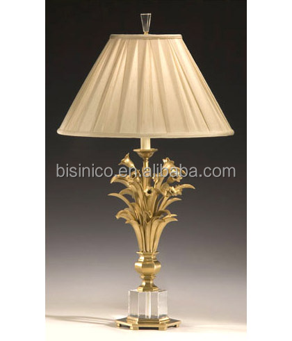 Fancy Table Lamp With Shade,Imitate Flower Vase Shape Crystal ...:Fancy Table Lamp With shade, Imitate Flower Vase Shape Crystal Bronze Table  Lamp, Elegant,Lighting