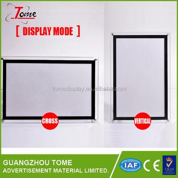 A4 A3 A2 A1 A0 Customize Size Led Snap Frame Slim Light Box - Buy Led Slim  Snap Frame Light Box,Picture Frame Led Light Box,Super Slim Led Light Box
