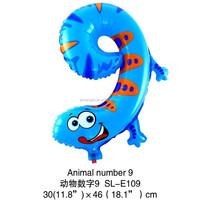 Happy New Year Merry Christmas Number 9 gecko shape foil balloon