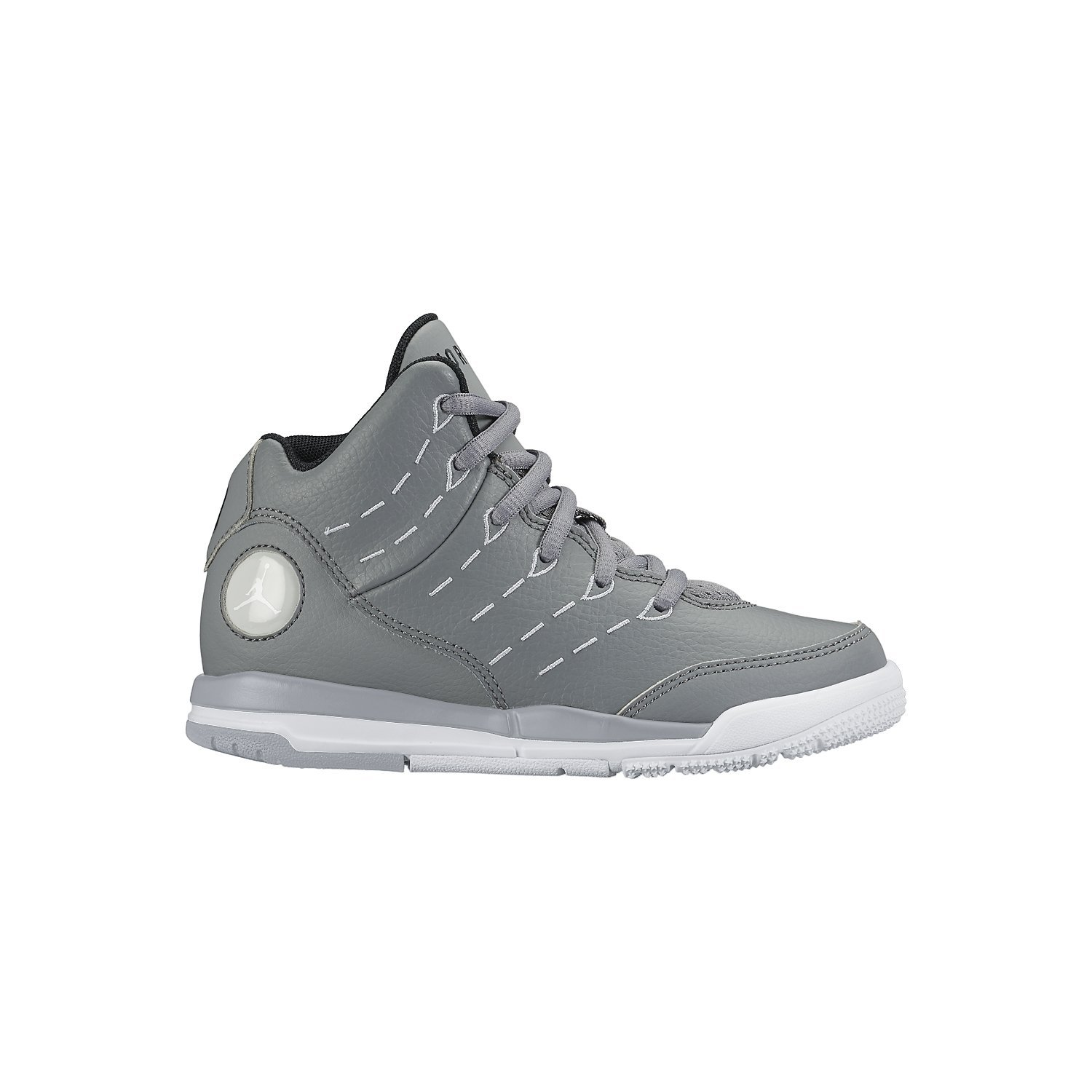 297e770c203d Get Quotations · Nike Boy s Air Jordan Flight Tradition Basketball Shoe  Cool Grey Wolf Grey White 2.5