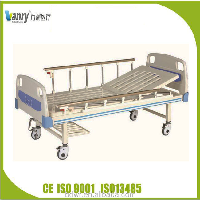 Semi-fowler bed with ABS headboards and wire side hospital bed , bed in the medical ward