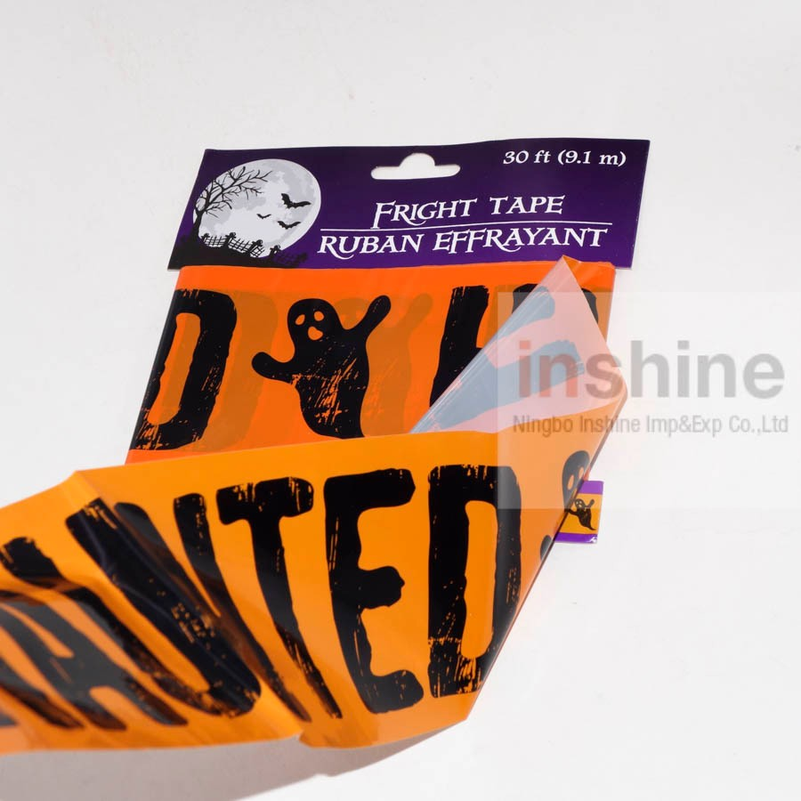 IN53868 HOT SELLING Cheap Barricade PE LDPE Masking Tape, Halloween Caution Tape