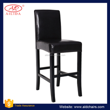 PC-121 Dining Chairs High Chair With Black Painted Wooden Legs