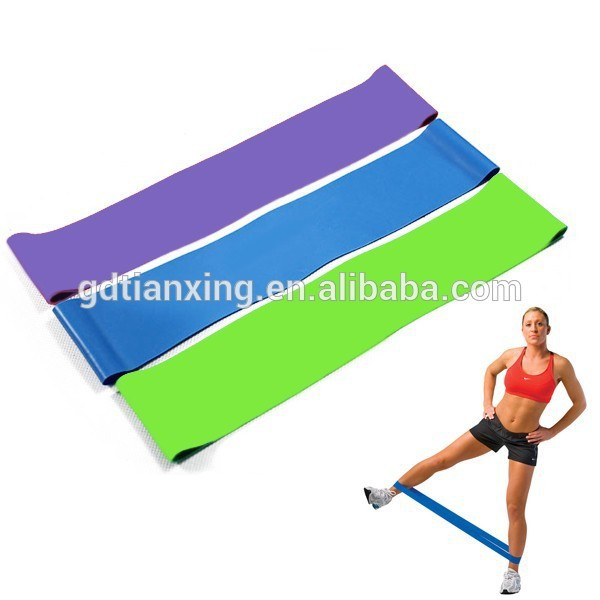 custom logo stretch power fitness loop resistance bands set