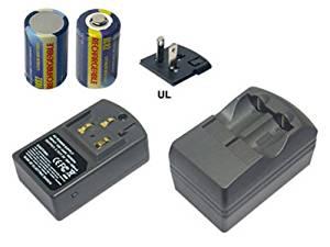 One 3.7V/7.3V (Output) charger and Two pcs of RCR2 rechargeable Lithium-ion (Li-ion) batteries for KODAK K123LA KL123LA Advantix T570 Auto Focus Advantix T70 Zoom Digital Camera