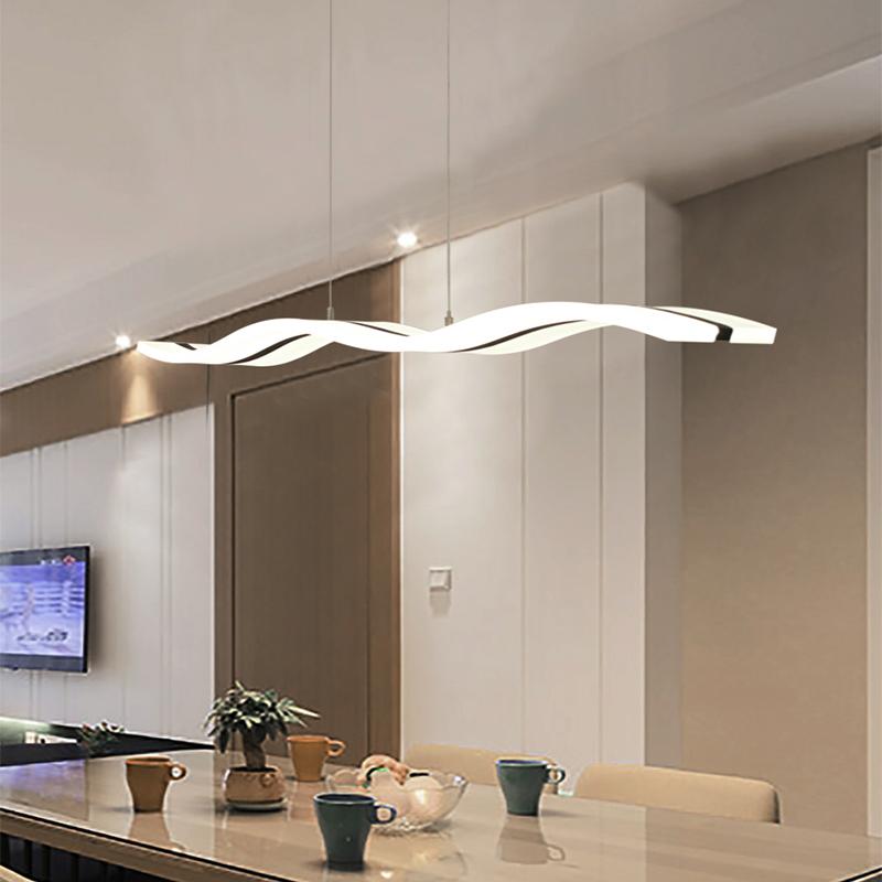 aluminum led home goods pendant lamp curve led chandelier