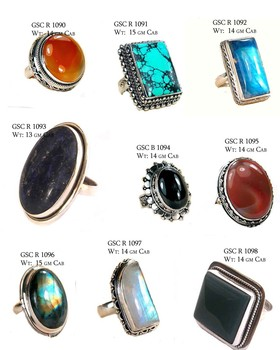 b1f1ee2db Silver 925 Turquoise Ruby Black Onyx Cabochon Rings Wholesaler - Buy ...