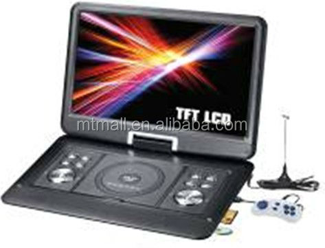 laptop portable dvd player/cheap portable dvd player/portable dvd player tv usb games