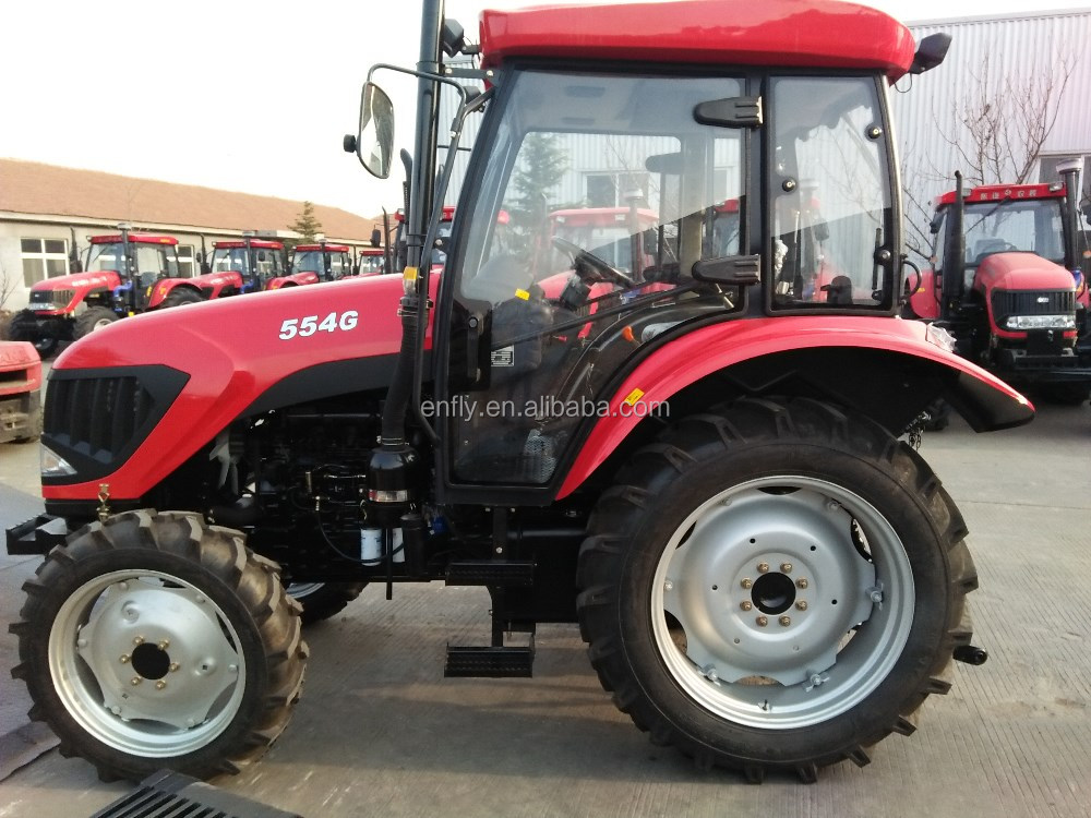 ENFLY farm tractor DQ554G 55hp 4WD tractor with A/C air conditioner cabin, front end loader