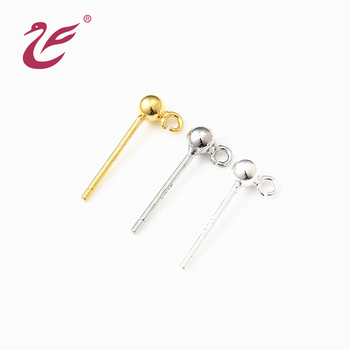 Fashion Jewelry Silver Jewelry/925 Silver Headpin with Ball & Loop earring finding