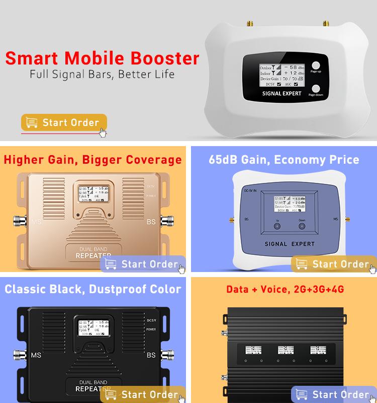 Atnj 900/1800/2100 mhz 2グラム3グラム4グラム携帯電話信号トライバンドリピータ