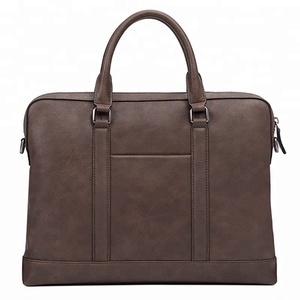 OEM high quality business men genuine leather laptop briefcase bag