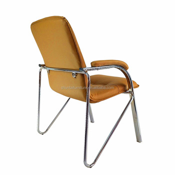 Modern Brown Leather Office Chair Without Wheels Buy Office Chair