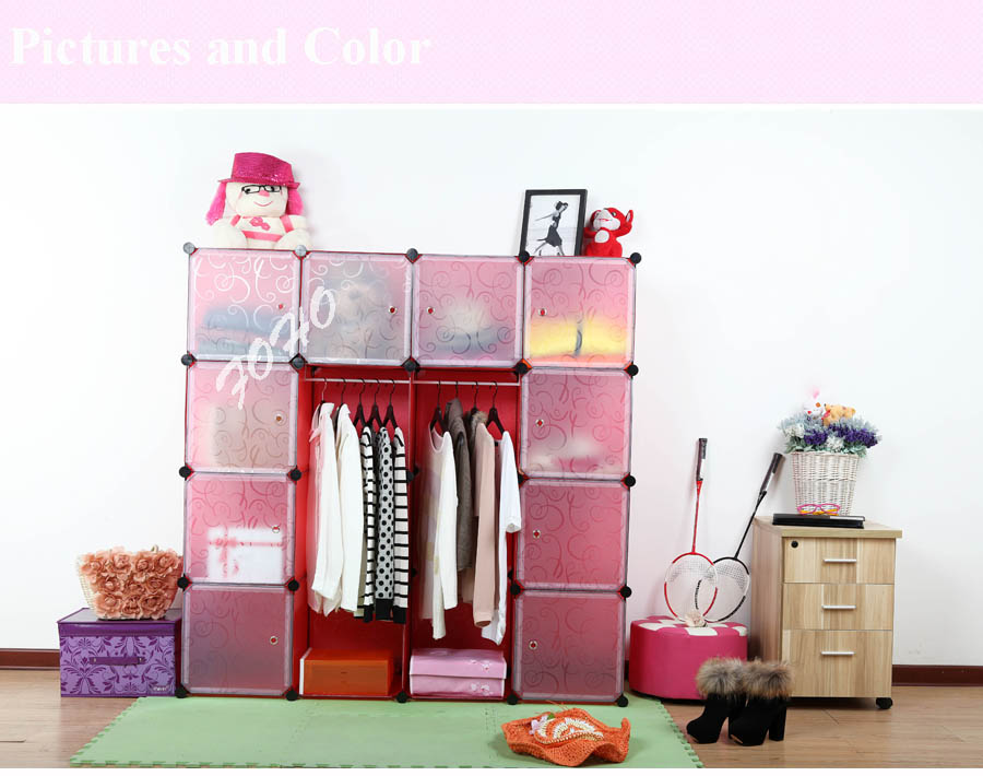 Pain Pink Collapsible Wardrobe Storage Pp Panel And Brakets (fh ...