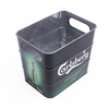 hot sale square ice metal tin bucket for beer galvanized tinplate