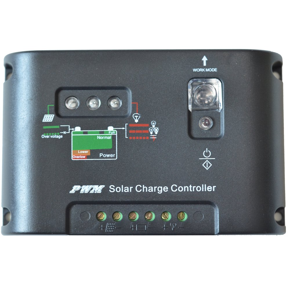 Vta-Tech 20A 12V 24V Solar Panel Battery Charge Controller Light and Timer Control