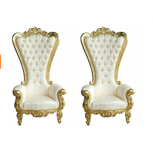 Superb Bomacy Double Seat High Back Cheap White Wood Luxury King Throne Wedding  Chairs For Bride