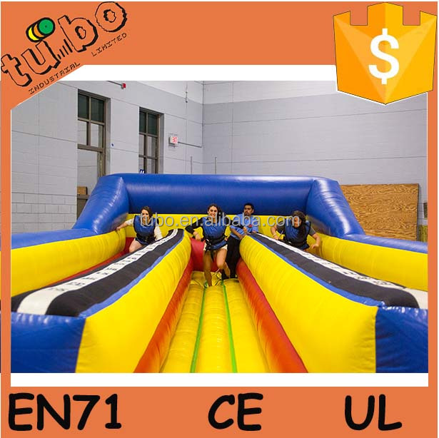 giant inflatable 3 line bungee run for event / sale / race
