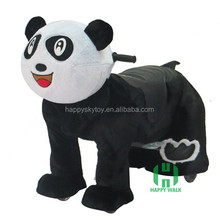 Musical Panda Design Electric animal riding horse toy for mall